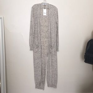 NEW Zara Knit Duster Open Front Sweater Size M